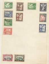 Old Album page of Mint Hinged and used Stamps