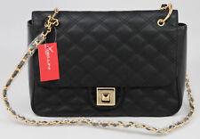 9fc97b1a88 New BELLINI Bologna Bag Purse BLACK Leather   GALAXY Patent Leather CHAIN  Strap
