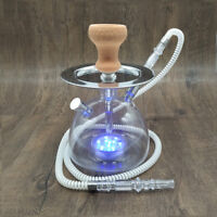 LED Light Hookah Shisha Sheesha Chicha Narguile Ceramic Tobacco Bowl Hose Tongs