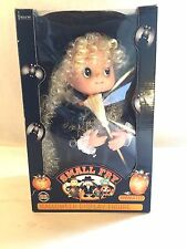 """Vtg 1995 TELECO MOTION-ette 13"""" SMALL  FRY Halloween Doll Witch w Broom & Hat"""