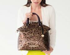 ❤️BRAHMIN DUXBURY SATCHEL BRONZE GATSBY METALLIC BROWN GOLD DAMASK LEATHER NWT❤️