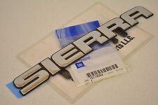 2002-2007 GMC Sierra 1500 2500 3500 Tailgate Emblem Name Plate new OEM 15114064