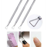 UV Gel Polish Remover Triangle Stick Rod Pusher Nail Art Stainless Steel Tools