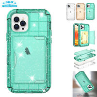 360° Full Bling Heavy Duty Clear Shockproof Glitter Case Cover iPhone 12 Pro Max