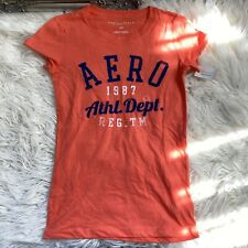 Aeropostale Womens Short Sleeve Printed Red Top Size Small