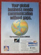 9/1992 PUB COMSAT AERONAUTICAL SERVICES BUSINESS SATELLITE COMMUNICATION AD