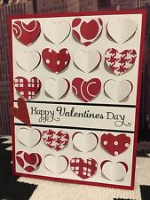 """Stampin Up """"Happy Valentine's Day"""" Fluttering Hearts Handmade Card Kit (4 Cards)"""