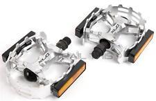 "XLC Bear Trap Fat Bike / MTB Wide Platform Pedals 9/16"" Alloy Silver"