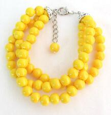 Yellow Pearl 3 rows Bracelet,Yellow Bead Bracelet,Wedding,Bridesmaids Bracelet