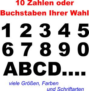 Selbstklebende Zahlen Buchstaben Aufkleber Auto Briefkasten Hausnummer Mülleimer