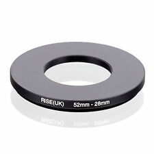 Camera 52mm Lens to 28mm Accessory Step Down Adapter Ring 52mm-28mm