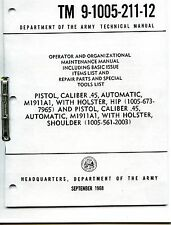 Tech Manual Copy Tm9-1005-211-12 45cal M1911A1 +Cd How to Operate your pistol