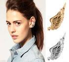 Women Alloy Gothic Punk Rock Star Angel Wing Ear Cuff Warp Clip Stud Earrings
