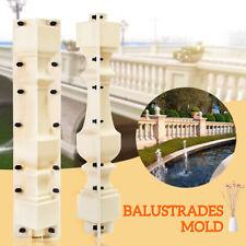 2 PCS 70cm Roman Concrete Plaster Cement Casting Moulds Balustrades Mold DIY