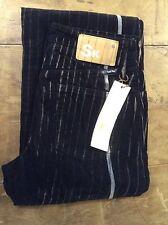 Seal Kay black pin striped corduroy womens boot cut trousers 26' 32L