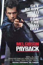 PAYBACK MOVIE POSTER Original 27x40 MINT ! MEL GIBSON + DIE HARD II BUTTON !!