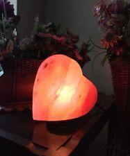 Love HEART Natural Himalayan Salt Crystal Lamp Orange Therapeutic Rock Gift
