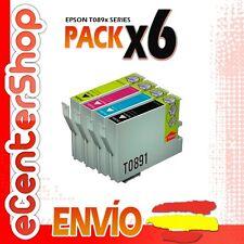 6 Cartuchos T0891 T0892 T0893 T0894 NON-OEM Epson Stylus SX110