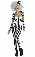 Ladies Beetlejuice Halloween Corset  Suit Party Fancy Dress Outfit S UK8-10 New