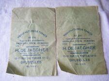 2 Vintage Advertising Bag Bags, Cigars? Tobacco? , H. Dejaegher, Bruxelles