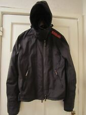 SUPER DRY DOUBLE BLACKLABEL HOODED  JACKET BROWN SIZE SMALL