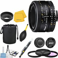 Nikon 50mm 1.8D Lens Bundle + U.V. + FLD + CPL + Blower Brush + Lens Pen + Cloth