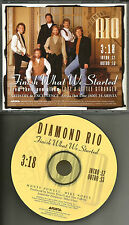 DIAMOND RIO Finish What we Started  PROMO DJ CD Single 1994 USA MINT ASCD2739