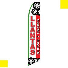 Llantas Nuevas y Usadas flag swooper banner feather