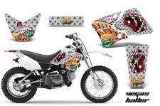Dirt Bike Graphics Kit Decal Wrap For Yamaha TTR90 TTR90E 2000-2007 VEGAS SILVER