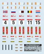 "DECALS 1/43 PLAQUES FORD FIESTA RS WRC ""QATAR"" PORTUGAL 2013 - COLORADO  43234"