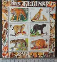 2003 animals big cats tigers cheetah panther lynx scouts m/sheet MNH