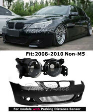 08-10 BMW E60 5-Series With PDC M5 Style Front Bumper Cover & Clear Fog Lights
