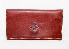 Vtg EDDIE BAUER Men's Waterproof Leather Billfold Wallet Brown Travel Passport