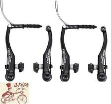 SHIMANO DEORE T610 LINEAR-V BRAKE BLACK MTB BICYCLE FRONT AND REAR BRAKE SET