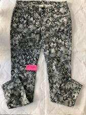 MK MICHAEL KORS JEANS Skinny GRAY Floral Lily Ankle/Crop Size 4P