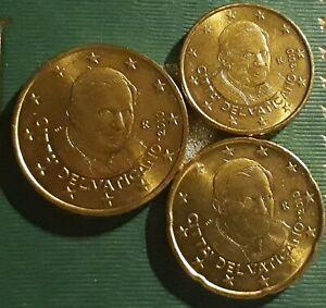 MONNAIE VATICAN EURO BU 2010 le trio 10/20/50 cent UNC RARE. refA185/275