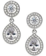 Giani Bernini Sterling Silver CZ Teardrop Pear Shape Earrings NWT $85