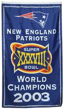 New England Patriots 2003 world Champions  flag 3x5ft  banner US Shipper