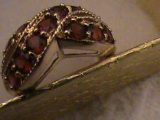 Absolutely Gorgeous 10k Gold  Ruby  Ring ,  Size 7 , 4.8 Grams