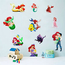The Little Mermaid Princess Ariel Wall Sticker PVC Mural Kids Room Decals Decor