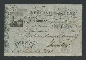 ENGLAND Newcastle  20s £1  1803  Provincial Banknotes