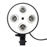 4 in 1 E27 Base Socket Light Lamp Bulb Holder Adapter for Photo Studio Softbox