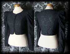 Goth Black Lace Fitted SPELLBOUND Puff Shoulder Jacket 8 10 Victorian Steampunk