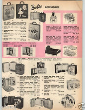 1964 PAPER AD Barbie Doll Dolls Ken Carry Case Midge Costume Trunk Mattel Chatty