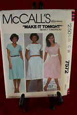 McCall's 7572 Size Small Clothing Pattern