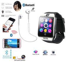 Q18 Smart Wrist Watch Bluetooth Waterproof Headset Bundle Kit For Samsung iPhone