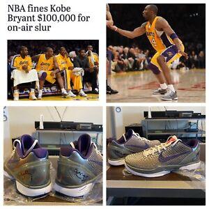 Kobe Bryant Signed Game Worn Nike Shoes- Kobe 6 China (Read Description! RARE!!)