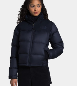 EUC The North Face 1996 Eco Nuptse 600 down Puffer jacket Women's Aviator Navy L
