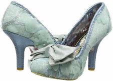 Irregular Choice 'Mal E Bow' (AQ) Pale Blue High Stiletto Heel Floral Bow Shoes