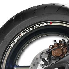 8 X FAZER FZR EXUP DELTABOX 2 jante de roue Stickers autocollants-couleurs - 600 1000-B